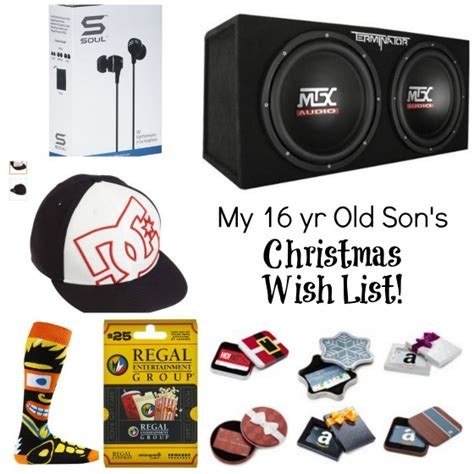 this is my 16 year old son s christmas list