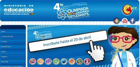 olimpiadas cientificas 2016 en bolivia olimpiadas educabolivia bo newhairstylesformen2014 com