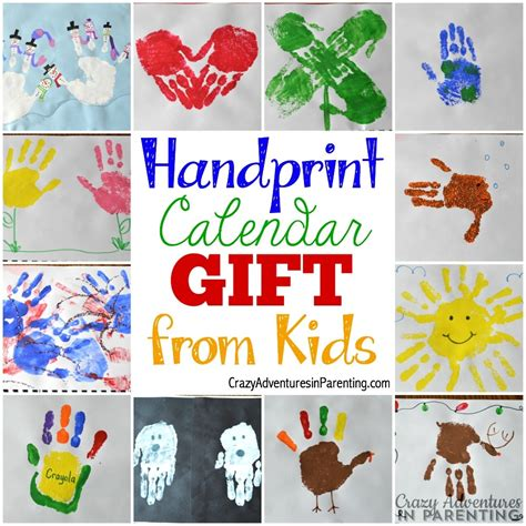 handprint calendar 15 homemade gift ideas kids can make