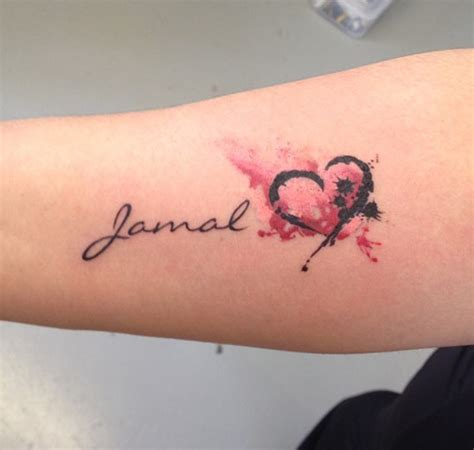 tattoo name watercolor black widow custom tattoo design watercolor heart name