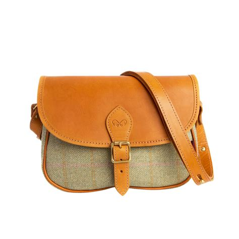 womens tweed crossbody saddle bag chapman bags
