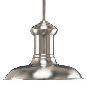 brushed nickel pendant lights progress lighting p5024 09 brookside large pendant