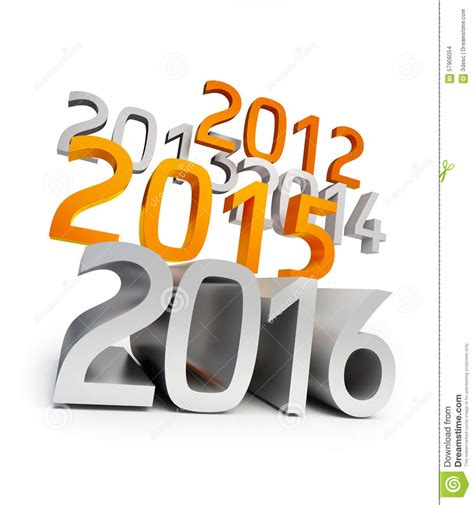 new year 2016 white background new year 2016 3d on a white background stock illustration