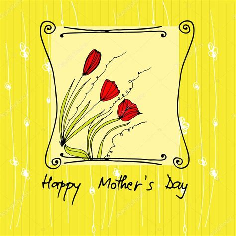 mother day greeting card design vector illustrated greeting card for your mother s day