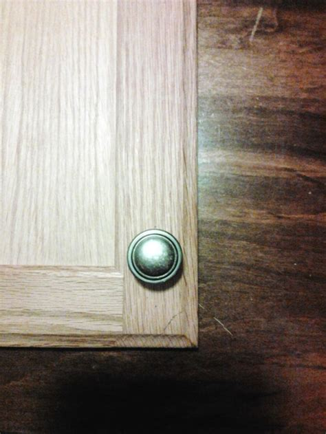 cabinet door knob placement cabinet door knob placement