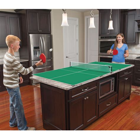 the kitchen table tennis accommodates a multitude of