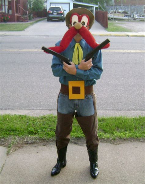 homemade yosemite sam costume looney tunes theme