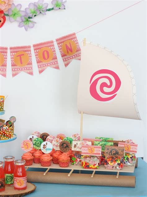 diy printable party decorations diy moana boat tutorial