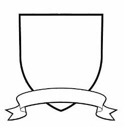 crest shield template coat of arms template with banner clipart best