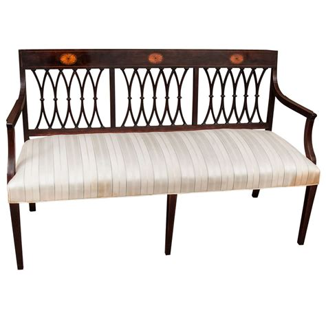 settee bench with back edwardian chair back settee at 1stdibs