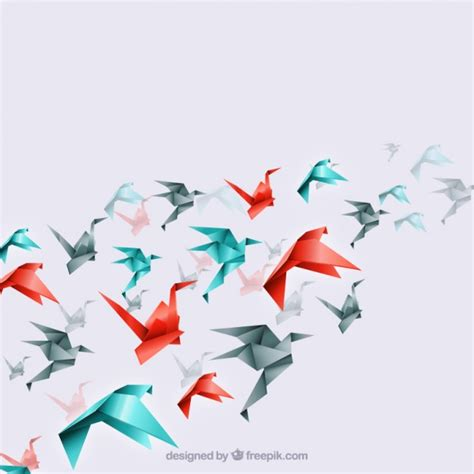 Origami Of Birds - origami background vectors photos and psd files free