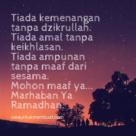 gambar kata islami  menyambut bulan suci ramadhan
