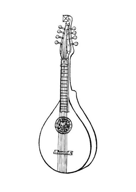 imagenes de instrumentos musicales para dibujar a lapiz dibujo para colorear instrumento de cuerda bandurria