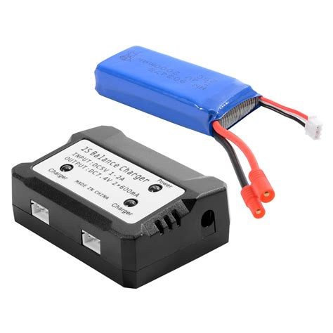 7 4v battery charger 7 4v 2000mah 25c lipo battery charger for syma x8c x8w