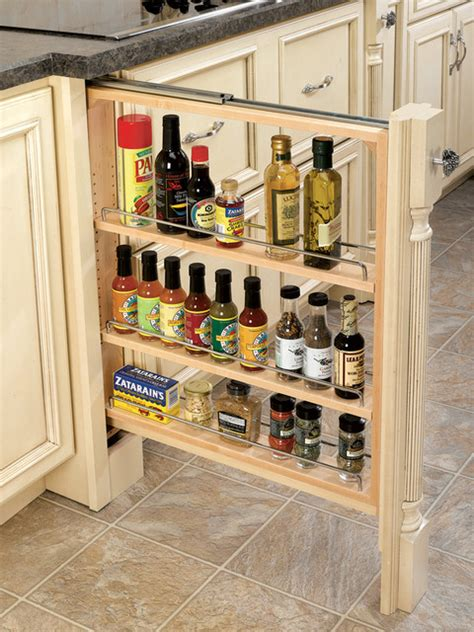 rev a shelf base filler pull out organizer with wood