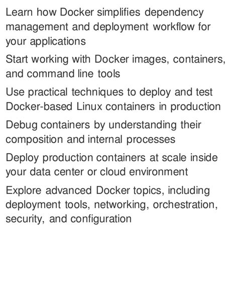 Docker Up Amp Running Shipping Reliable Containers In