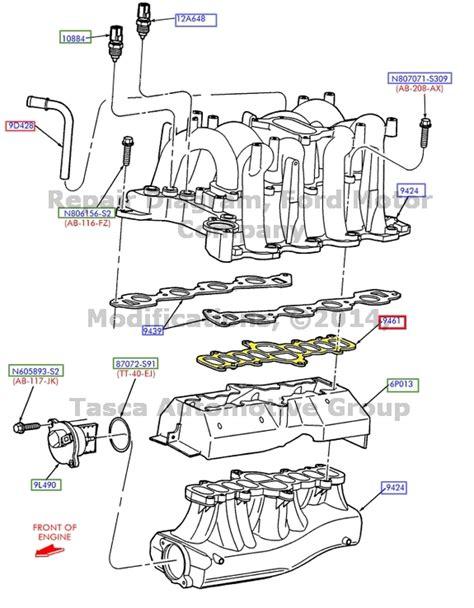 2001 ford f150 intake manifold new oem intake manifold gasket 5 4l 2001 2003 ford f150
