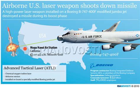 New Celana Laser Jumbo airborne u s laser weapon shoots missile