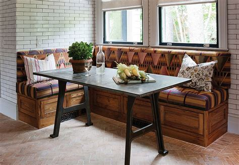 banquette table 25 space savvy banquettes with built in storage underneath