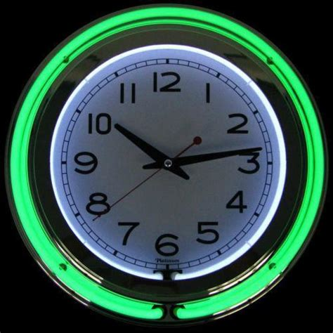 in light clock light up wall clock ebay