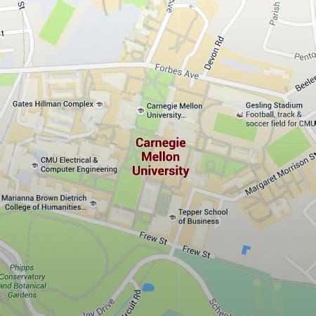 cmu map carnegie mellon map clubmotorseattle