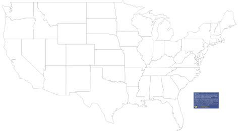 State Map Templates downloadable map of the united states