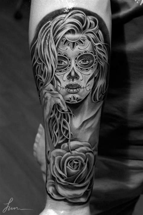 dawn of the dead tattoos 26 best sugar skull of the dead tats images on