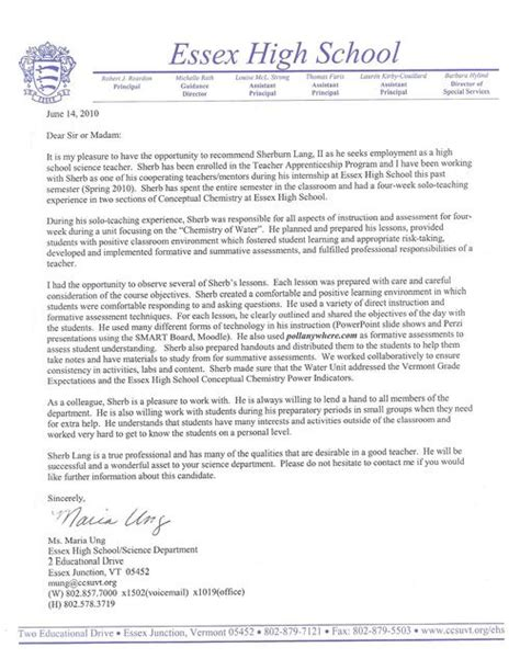 Reference Letter For Science sle recommendation letter for science cover