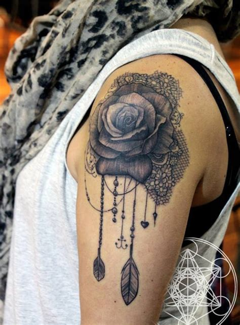 black rose shoulder tattoo 61 lace shoulder tattoos
