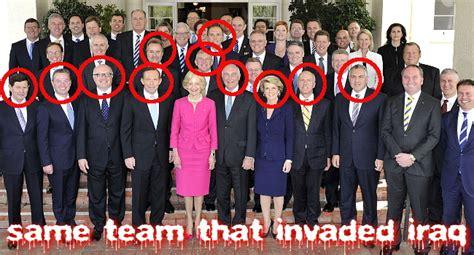 abbott front bench inside tasmania political amnesia abbott s cabinet is