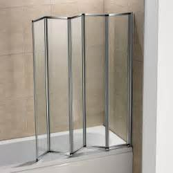 5 fold 1200 x 1400mm folding shower bath screen over bath bath screens shower screens wickes