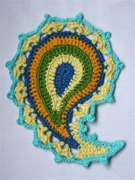 crochet paisley motif pattern free paisley floral crochet pattern