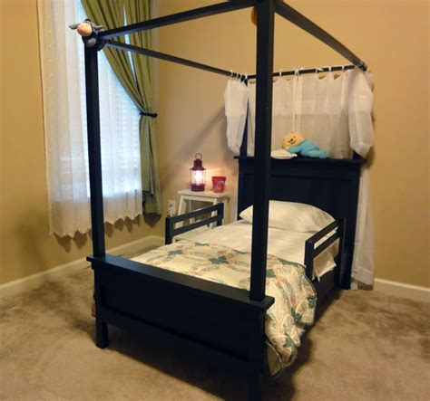 Canopy Toddler Beds For by White Toddler Farmhouse Bed With Canopy Diy Projects
