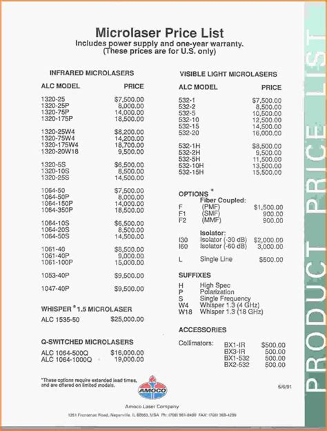 bar price list template price sheet template haisume