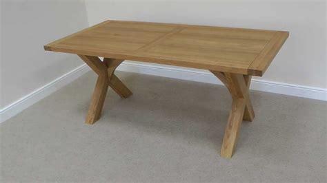 cross leg dining table 1 8m provence european oak cross leg dining table