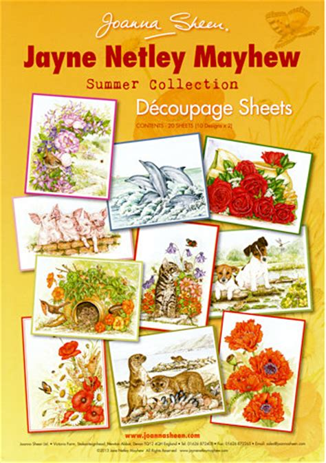 Joanna Sheen Decoupage - joanna sheen jayne netley mayhew decoupage sheets