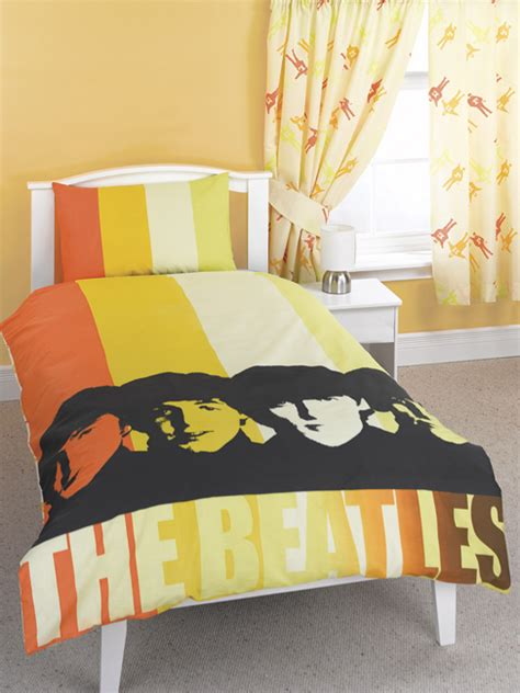 beatles bedding the beatles duvet cover and pillowcase stripes design