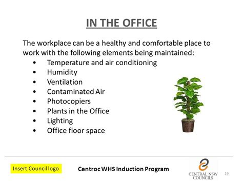 comfortable temperature for office local government work health and safety induction ppt