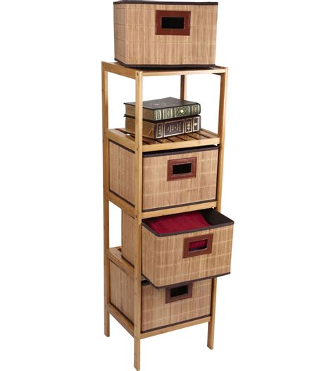 4 drawer storage tower 4 drawer storage tower in shelves with baskets