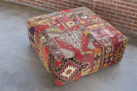 Diy Patchwork Rug - vintage rug patchwork square ottoman furniture at