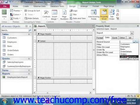 how to find layout view in access 2010 access 2010 tutorial creating a report in design view