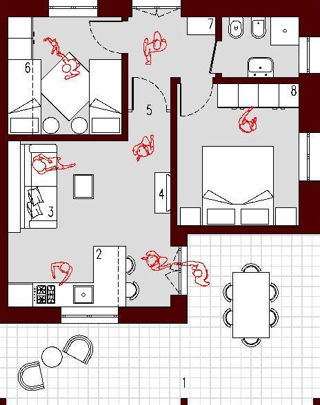 arredare bilocale 45 mq progetto 45 mq architettura a domicilio 174