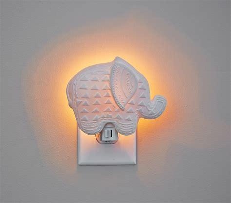 pottery barn night light ceramic elephant nightlight pottery barn kids