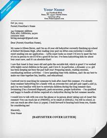 Babysitting Cover Letter – Babysitter Cover Letter Example ? Cover Letters and CV