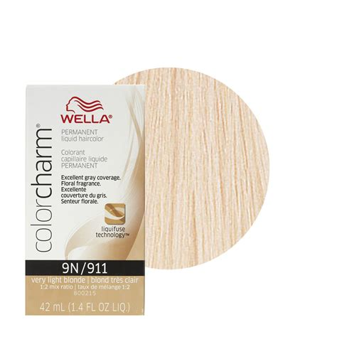 wella hair color reviews wella color charm liquid creme hair color 911 light