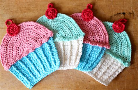 pattern for cupcake holder sweet colorful crochet cupcake dishcloth knit and
