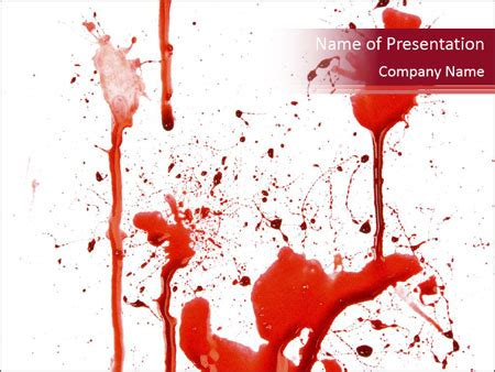 Horror Of Blood Powerpoint Template Backgrounds Id 0000064690 Smiletemplates Com Horror Powerpoint Template