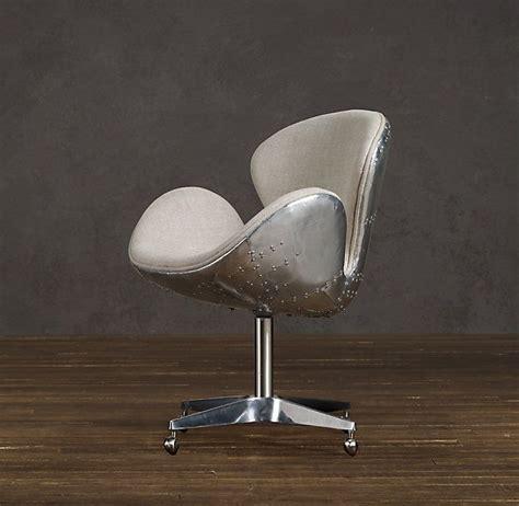 Restoration Hardware Airplane Desk by Spitfire Upholstered Chair By Restoration Hardware