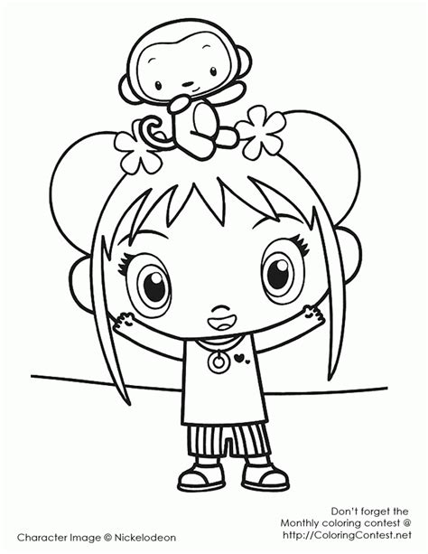 kai lan coloring pages coloring home