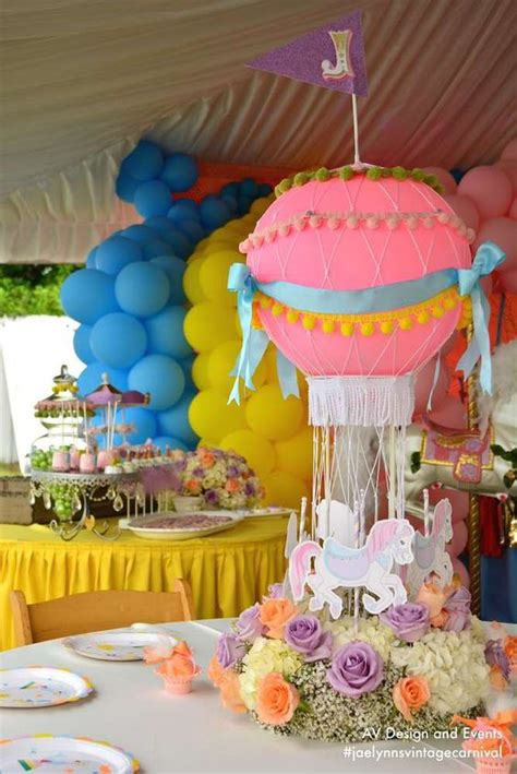 Vintage Carnival Birthday Party Centerpieces And Vintage Circus Centerpieces